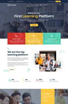 90 Best Education Website Templates Free  Premium - freshDesignweb Website Design Layout, Web Layout, Design Web, Layout Design, Education Website Templates, Free Website Templates, Tattoo Website, Powerpoint Design Templates, Responsive Layout