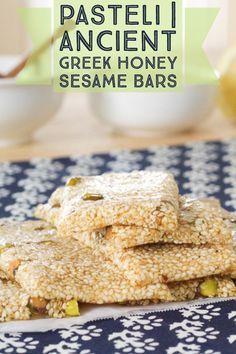Pasteli | Ancient Greek Honey Sesame bar                              …