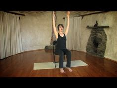 Yoga on a chair with Jessica Hatchett. Great for older clients or anyone who can not sit on a floor.