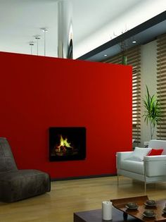 Red fireplace @Valspar_Paint    #ValsparBoardtoBrush  #BoardToBrush #ValsparBoardtoBrush