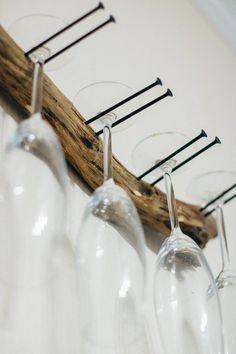 Retro Vintage Wine Glass Gadget Rack Holder Dining Bar Cabinet Bronze Iron Art
