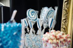 DIY candy buffet / bar wedding in navy White and rose - www.itsfashionbaby.dk