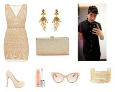 """""""red carpet with Calum hood"""" by smithhendricks on Polyvore featuring Nicole Miller, Charlotte Russe, Oscar de la Renta, La Regale and Valentino"""
