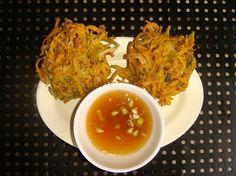 ... squash patties) squash with vinegar and kalamansi dip sauce. --> http