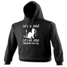 123t USA Let's Eat Kitty ! Punctuation Saves Cats Funny Hoodie