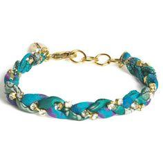 Vintage Sari Bracelet Turquoise now featured on Fab.