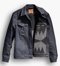 """Clothing brand claims of """"authentic"""" & """"heritage"""" run rampant but Pendleton & Levi's are two American brands that basically invented both. The two brands have now joined forces on a truly classic, and super limited edition fall clothing collection that includes trucker jackets and work shirts, plus a Pendleton wool blanket with an exclusive, one-of-a-kind pattern."""