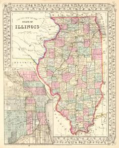 33 Best Illinois Images On Pinterest Historical Maps Antique Maps