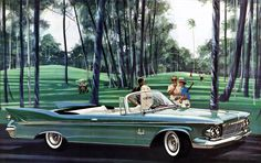 Plan59 :: Classic Car Art :: 1961 Imperial Crown Convertible