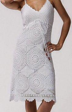 Patrones de puntos de solero de dama tejido con ganchillo