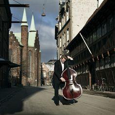 Double bass player by Nikolaj Lund, via Flickr