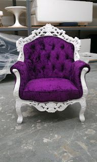 Baroque Chair - Ann Chair $850.00 - Baroque Furniture by Modern Chair Rental. Purple Velvet with white wood!