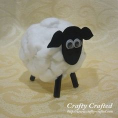 Us water bottle to cover with cotton balls. Students paint or dip cotton balls in food coloring. Next day glue onto sheep. Easter Crafts For Kids, Preschool Crafts, Bible Crafts, Paper Crafts, Cotton Ball Crafts, Cute Crafts, Diy Crafts, Lamb Craft, Timmy Time