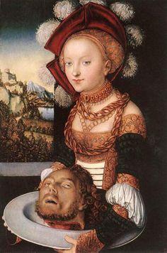 ルーカス・クラナッハ(父)『サロメ』(1530) Lucas Cranash (Ä) - Salome