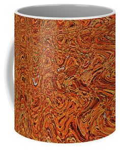 Fallen Leaves Abstract Coffee Mug featuring the digital art Fallen Leaves Abstract by Tom Janca