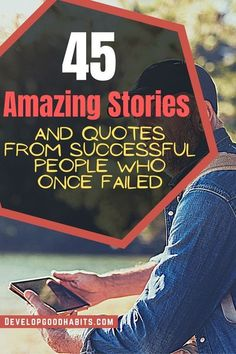 45 Amazing Stories and Quotes from Successful People who Once Failed | amazing success quotes and stories from Thomas Edison |Elvis Presley | Michael Jordan Vincent van Gogh| Stephen King JK Rowling | Albert Einstein | Fred Astaire |Dr. Seuss) | George Lucas |  Colonel Sanders | Charles Schulz | Walt Disney and many more #famousquotes #successstories Motivational Words, Inspirational Quotes, Success Quotes, Life Quotes, Famous Failures, Colonel Sanders, Definition Of Success, Fantastic Quotes, Life Lessons