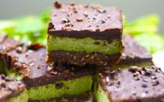 <p>These are raw, refreshingly cool, minty squares. Don't bother turning on your oven in the summer heat, but whip these up for a rich treat, instead. </p>