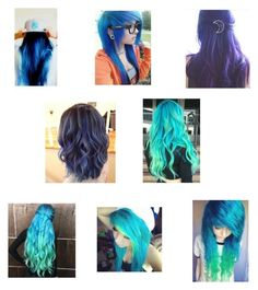 """""""Colors I want my hair"""" by smarty-owl ❤ liked on Polyvore featuring beauty"""