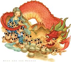 LeUyen Pham #love #dragon