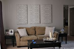 fabric wall panels, decor idea for large wall