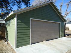 smooth lap siding garage