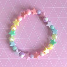 Fairy Jewelry, Beaded Jewelry, Kawaii Jewelry, Rainbow Star, Pink Accessories, Kandi, Necklaces, Bracelets, Awesome Things
