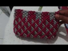 Tutorial macrame motif full colour - YouTube