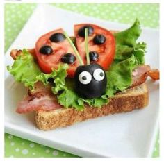 aperitivos-infantiles Cute Snacks, Cute Food, Good Food, Yummy Food, Easy Lunch Boxes, Lunch Box Recipes, Baby Food Recipes, Lunch Ideas, Dinner Ideas