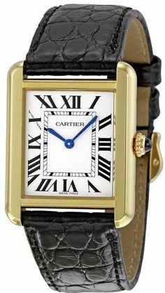 MODEL: W5200002   ELEGANT NEW CARTIER TANK SOLO LADIES GOLD & STEEL QUARTZ WATCH #Cartier #LuxuryDressStyles