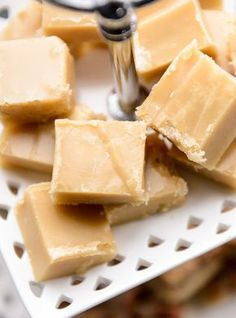 Scottish tablet - it's not fudge and it's not toffee. Fudge Recipes, Candy Recipes, Sweet Recipes, Holiday Recipes, Dessert Recipes, Scottish Recipes, Homemade Candies, Christmas Desserts, Just Desserts