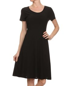 Look what I found on #zulily! Black Fit & Flare Dress by Kokette #zulilyfinds