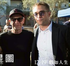 Robert Pattinson and David Cronemberg on the set of MTTS