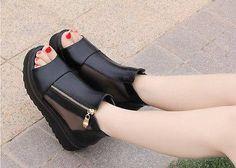 Open Toe  Platform Gladiator Sandals Boots