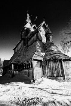 Hopperstad Stave Church, Moorhead, ND by road triper, via Flickr