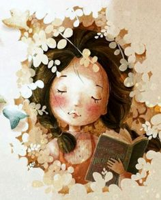 Girl Reading ~ by Tamypu on deviantART