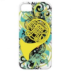 French Horn iPhone 5 Cover  Click on photo to purchase. Check out all current coupon offers and save! http://www.zazzle.com/coupons?rf=238785193994622463&tc=pin
