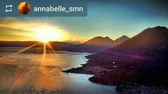 #Follow @annabelle_smn: Good morning! #Sunrise from #RostroMaya #Lake #Atitlan #Guatemala #ILoveAtitlan #AmoAtitlan #Travel #Volcano #LakeAtitlan #LagoAtitlan by okatitlan