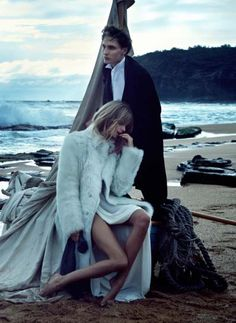 Two if By Sea: Julia Stegner & Eamon Farren by Will Davidson for Vogue AU