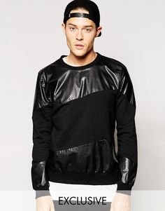 Standard Issue Exclusive Sweatshirt with Faux Leather Panel
