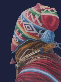 ♡ Punto de Cruz Andino - Inicio Mexican Textiles, Tumblr Stickers, World Cultures, Folk Art, Mountain Dew, To My Daughter, Creatures, History, Drawings