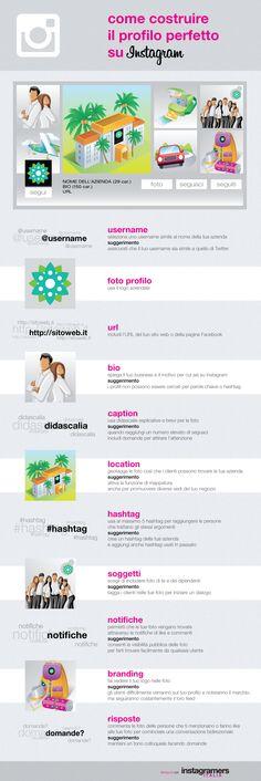 Instagram per aziende: come costruire il profilo perfetto su Instagram - #Infografica #instagram