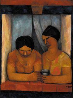 Dos mujeres en la ventana, 1925