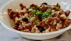 Brown Rice and Black Beans Molé Clean Eating, Healthy Eating, Lentil Recipes, Cooking Black Beans, Vegan Kitchen, Ann Arbor, Mole, Brown Rice, Whole Food Recipes