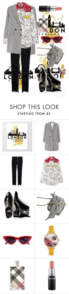 """London style"" by sha-shu on Polyvore featuring MANGO, Madewell, rag & bone, Dolce Vita, Ted Baker and Burberry"
