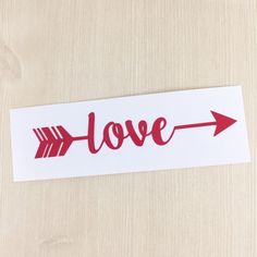 Love Arrow Decal - Love Decal - Girl Friend Gift - Teen Decal - iPad Decal - Yeti Decal - Water Bottle Decal - Car Decal- Arrow Decal - Love by SimplyGracefulDesign on Etsy