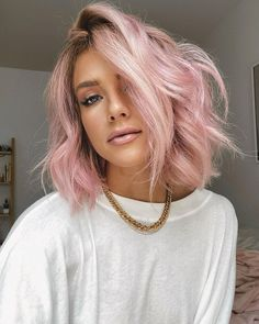 Pink Hair: A Bright Pastel Lob