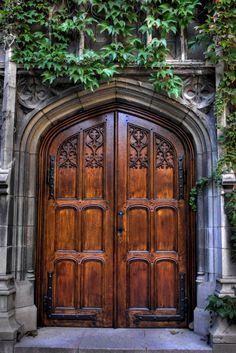 """""""Enter its doors with Thanksgiving"""" Bond Chapel - University of Chicago The way to create Cool Doors, The Doors, Windows And Doors, Front Doors, Door Entryway, Entrance Doors, Doorway, Door Gate, Antique Doors"""