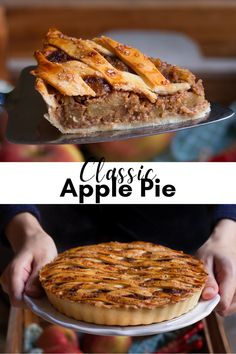A golden, buttery, flaky crust and a thick apple filling with cinnamon lending a pleasant richness, and you've got a classic apple pie that tastes like a dream! Apple Pie Recipes, Almond Recipes, Baking Recipes, Classic Apple Pie Recipe, Bubble Fruit, Recipe Using Apples, Pie Crust Uses, Apple Filling, Artisan Food
