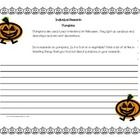 Pumpkins ~ Halloween Mini Research Activity   Includes two pages of lined paper with Halloween border.  Note: This mini research activity is part o...