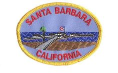 Santa Barbara Patch - California Collectible Iron-On High Quality Stitching